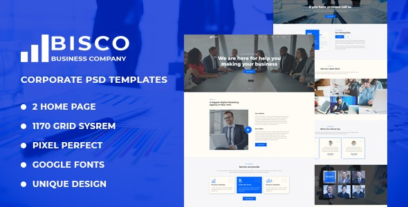 Bisco - Corporate & Business PSD Template - Corporate PSD Templates