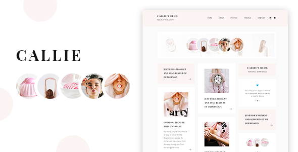 Callie - A Story WordPress Blog Theme - Personal Blog / Magazine