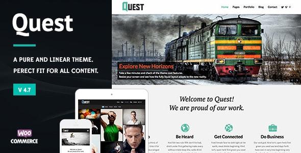 Quest - All Purpose WordPress Theme - WordPress