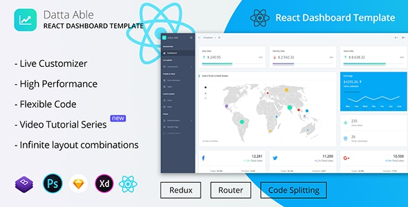 Datta Able React Redux Admin Template by codedthemes | ThemeForest