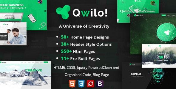 Qwilo - Multi-purpose Responsive HTML5 Template - Corporate Site Templates