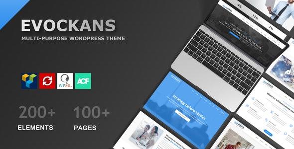 Evockans - Responsive Multi-Purpose WordPress Theme - Business Corporate
