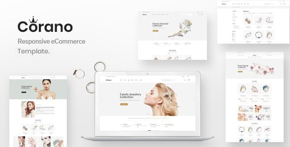 Jewellery eCommerce Bootstrap 4 HTML Template - Corano - Shopping Retail
