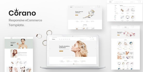 Jewellery eCommerce Bootstrap 4 HTML Template - Corano