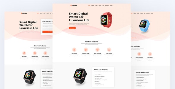 Premat - Product Landing Page - Marketing Corporate