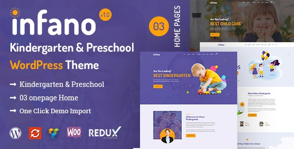 Infano - Kindergarten & Preschool WordPress Theme - Education WordPress