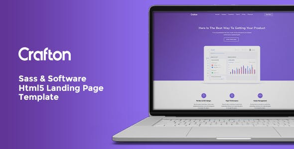 Crafton SaaS & Software HTML5 Landing Page
