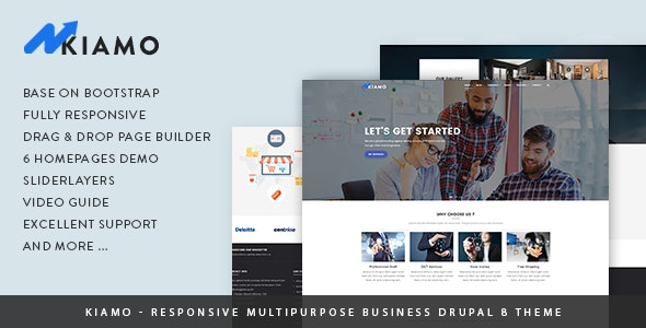 Kiamo - Responsive Business Service Drupal 8.7 Theme - Business Corporate