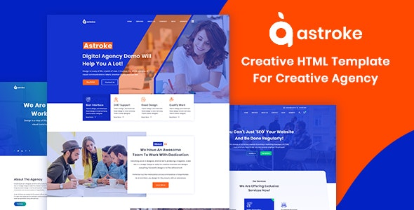 Astroke - Creative Agency HTML5 Template - Business Corporate