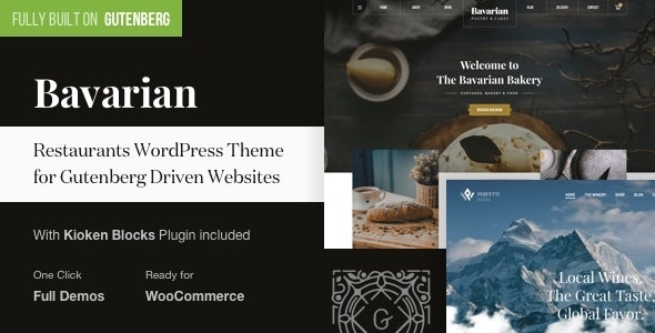 Bavarian - Gutenberg WordPress Theme for Restaurants - Restaurants & Cafes Entertainment