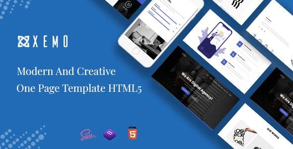 Xemo - Creative One Page Parallax - Portfolio Creative