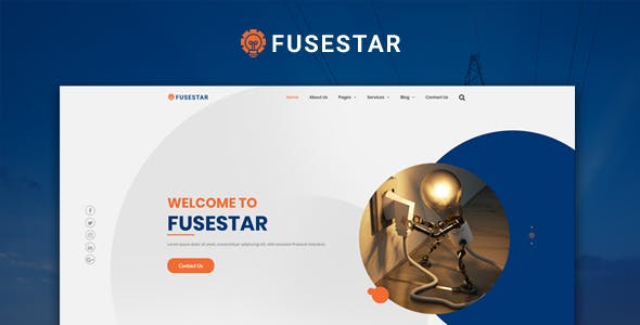 Fusestar Responsive HTML5 Electrical Template by sbTechnosoft