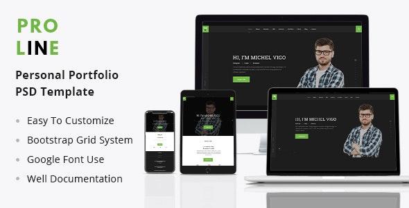 Proline - Personal Portfolio PSD Template - Portfolio Creative