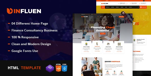 Influen - Corporate & Financial Business HTML5 Template by shifttechplus