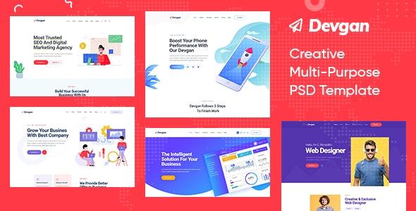 Devgan - Creative Multi-Purpose PSD Template - Creative Photoshop