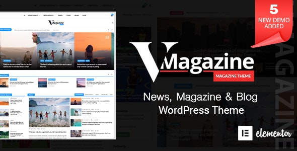 Vmagazine Blog Newspaper Magazine Wordpress Themes By Accesskeys