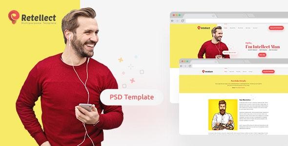 Retellect - Personal Portfolio PSD Template - Portfolio Creative