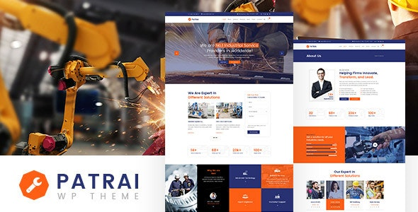 Patrai | Industry WordPress Theme - WordPress