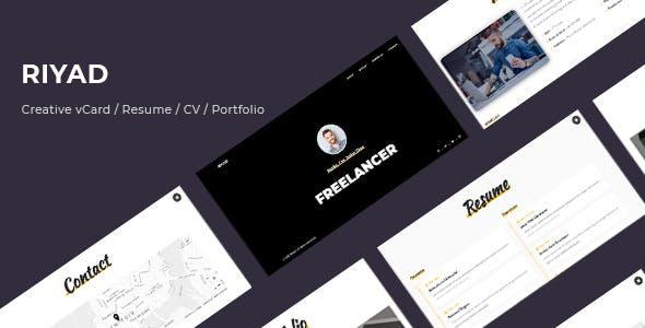 Resume CV Portfolio VCard