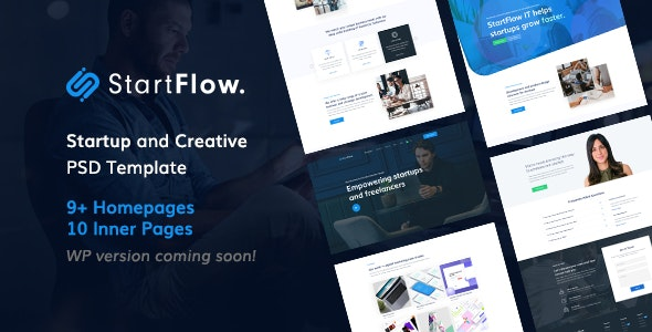 Start Flow - Startup and Creative Multipurpose PSD Template - Creative Photoshop