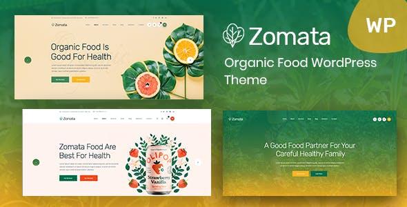 Zomata - Organic Food WordPress Theme + RTL