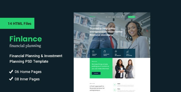 Finlance - Financial Planning and Investment HTML Template - Business Corporate