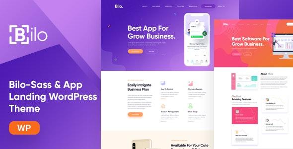 Bilo - SaaS & App Landing WordPress Theme - Software Technology