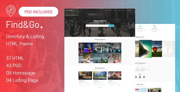 FindGo - Directory & Listings HTML Template