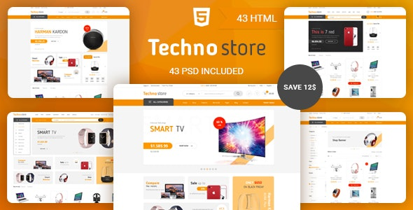 Techno Store - Electronic eCommerce HTML Template - Retail Site Templates