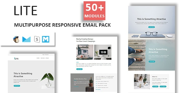 Lite - Email Template Multipurpose Responsive with Stampready Builder Access - Newsletters Email Templates