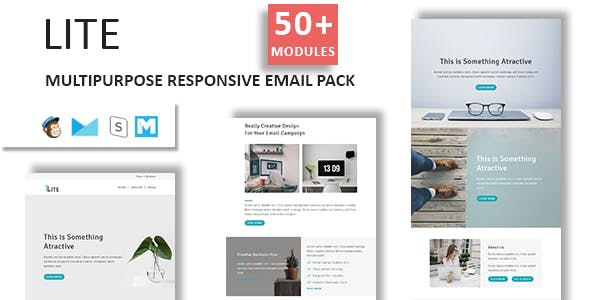 Lite - Email Template Multipurpose Responsive with Stampready Builder Access