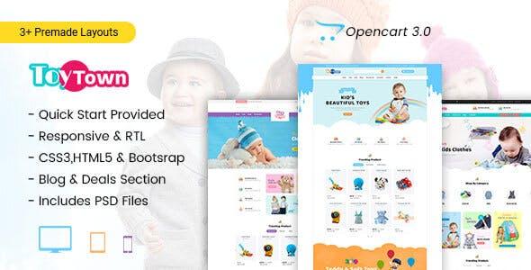Toytown - Kids Clothing & Toys Opencart Theme - Shopping OpenCart