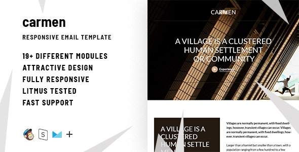 Carmen – Responsive HTML Email + StampReady, MailChimp & CampaignMonitor Compatible Files - Email Templates Marketing
