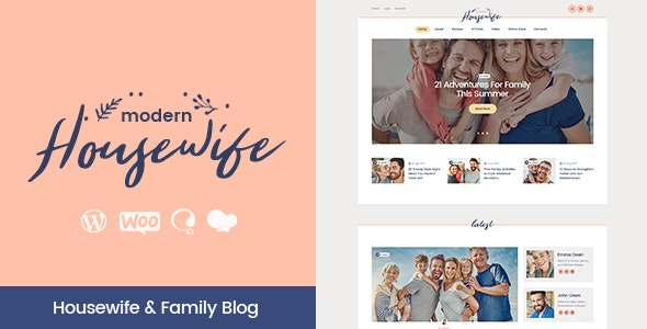 Modern Housewife | Women & Family WordPress Blog Theme - Personal Blog / Magazine