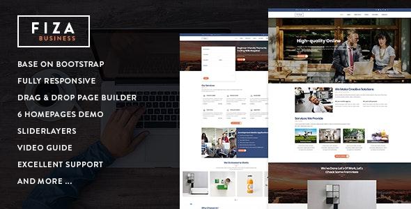 Fiza - Responsive Business Service Drupal 8 7 Theme by