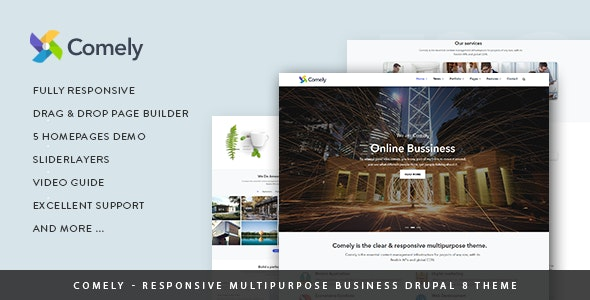 Comely - Responsive Multipurpose Business Drupal 8.7 Theme - Business Corporate