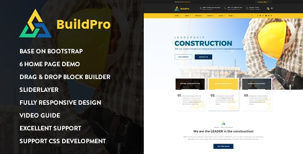 BuildPro - Construction Drupal 8.7 Theme - Corporate Drupal