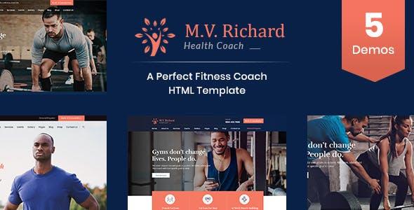 MV Richard - Health, Fitness, Personal Coach Template