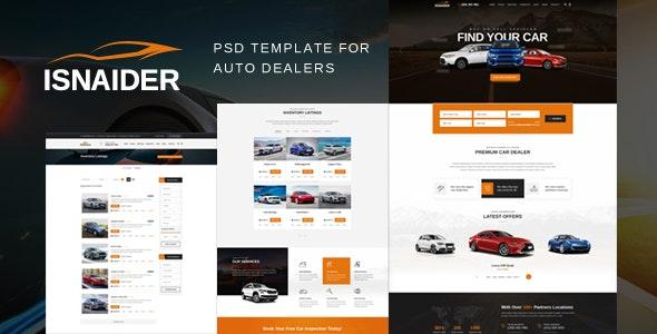 Isnaider - Auto dealer & Rental  PSD - Retail Photoshop