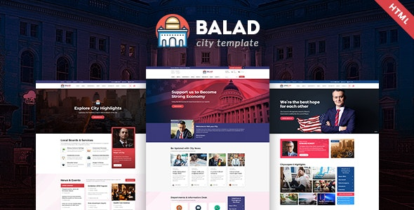Balad - City Government Html Template - Political Nonprofit