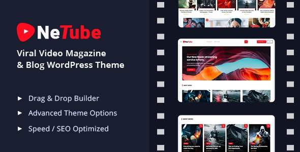 Netube - Viral Video Blog / Magazine WordPress Theme - News / Editorial Blog / Magazine