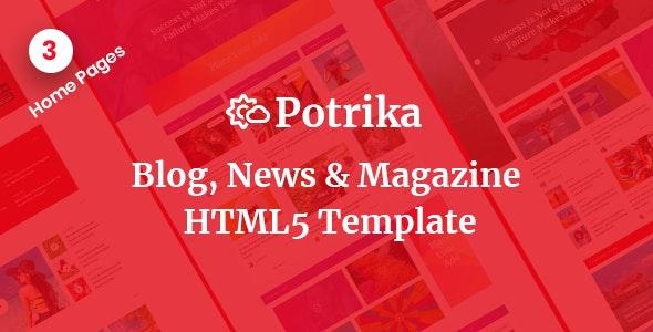 Potrika - Blog, News & Magazine HTML5 Template - Miscellaneous Site Templates