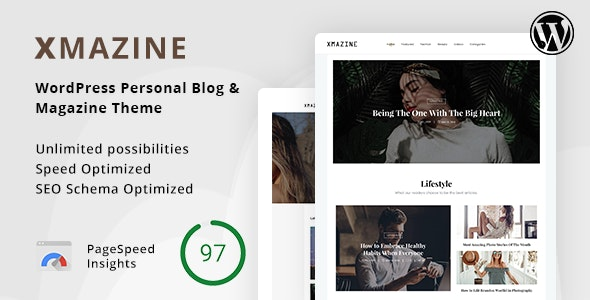 Xmazine - WordPress Personal Blog & Magazine Theme - News / Editorial Blog / Magazine