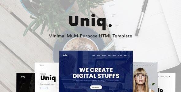 Uniq - Minimal Multipurpose Creative HTML Template - Creative Site Templates