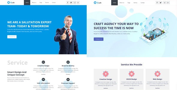 Craft- Creative Agency Muse Template - Creative Muse Templates