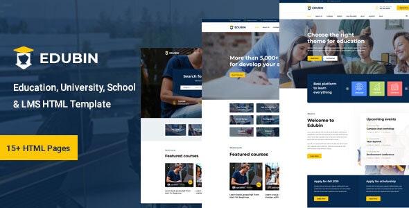 Edubin - Education HTML Template - Corporate Site Templates
