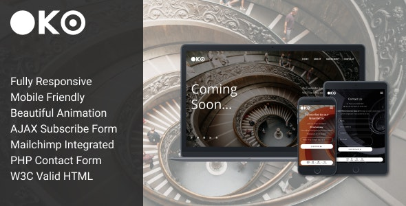 OKO - Creative Coming Soon Template - Under Construction Specialty Pages