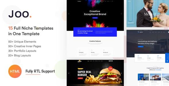 Joo - Niche Multi-Purpose HTML Template - Corporate Site Templates