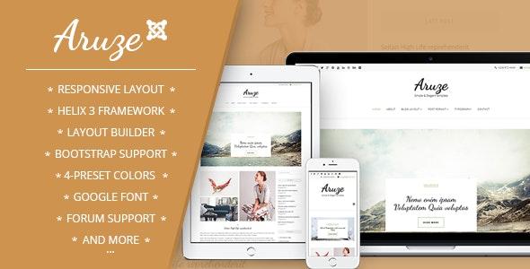 Aruze - Personal Joomla Template - Blog / Magazine Joomla
