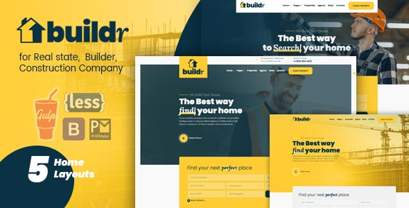 Buildr - Real Estate, Builder & Construction HTML Template - Business Corporate